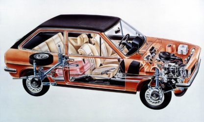 Ford Fiesta cutaway