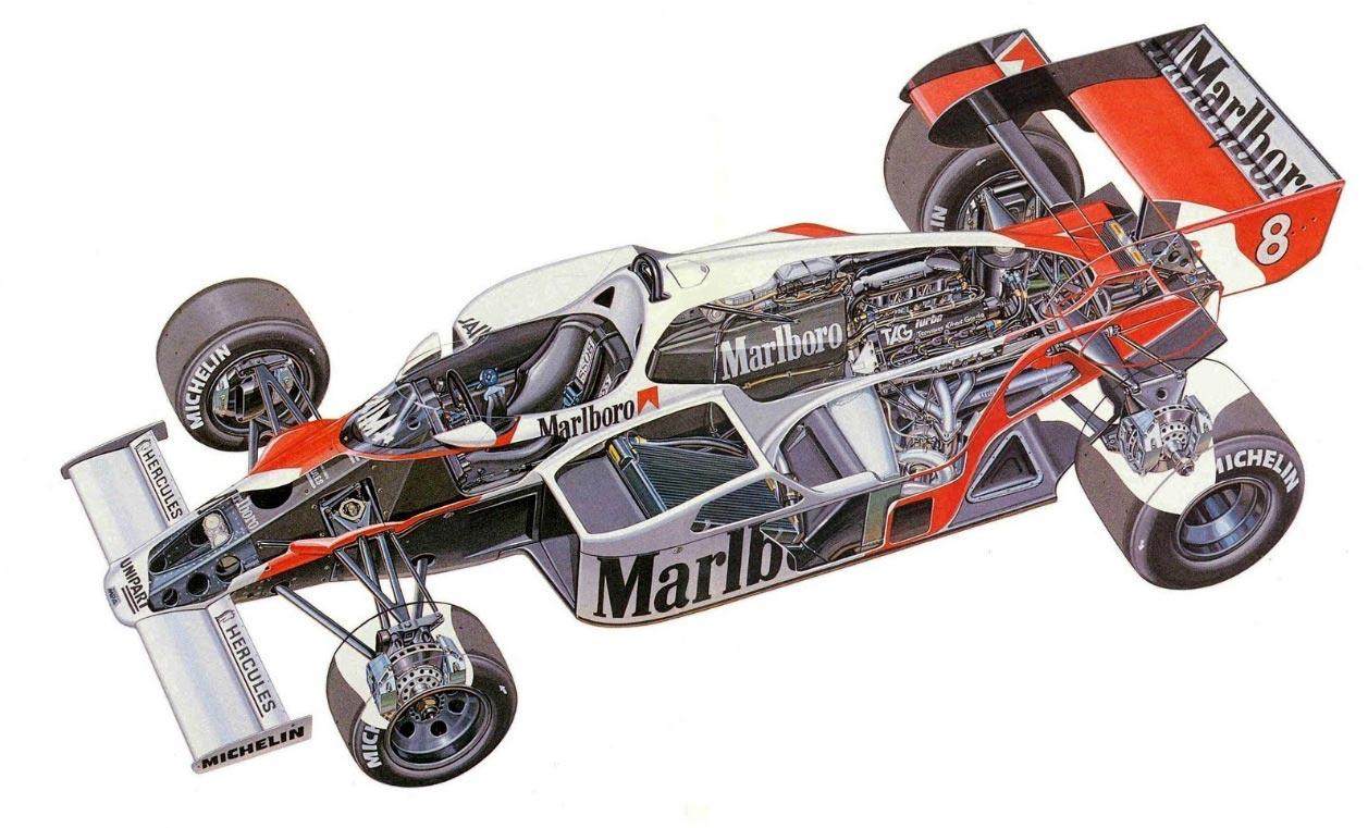 McLaren MP4/2 cutaway