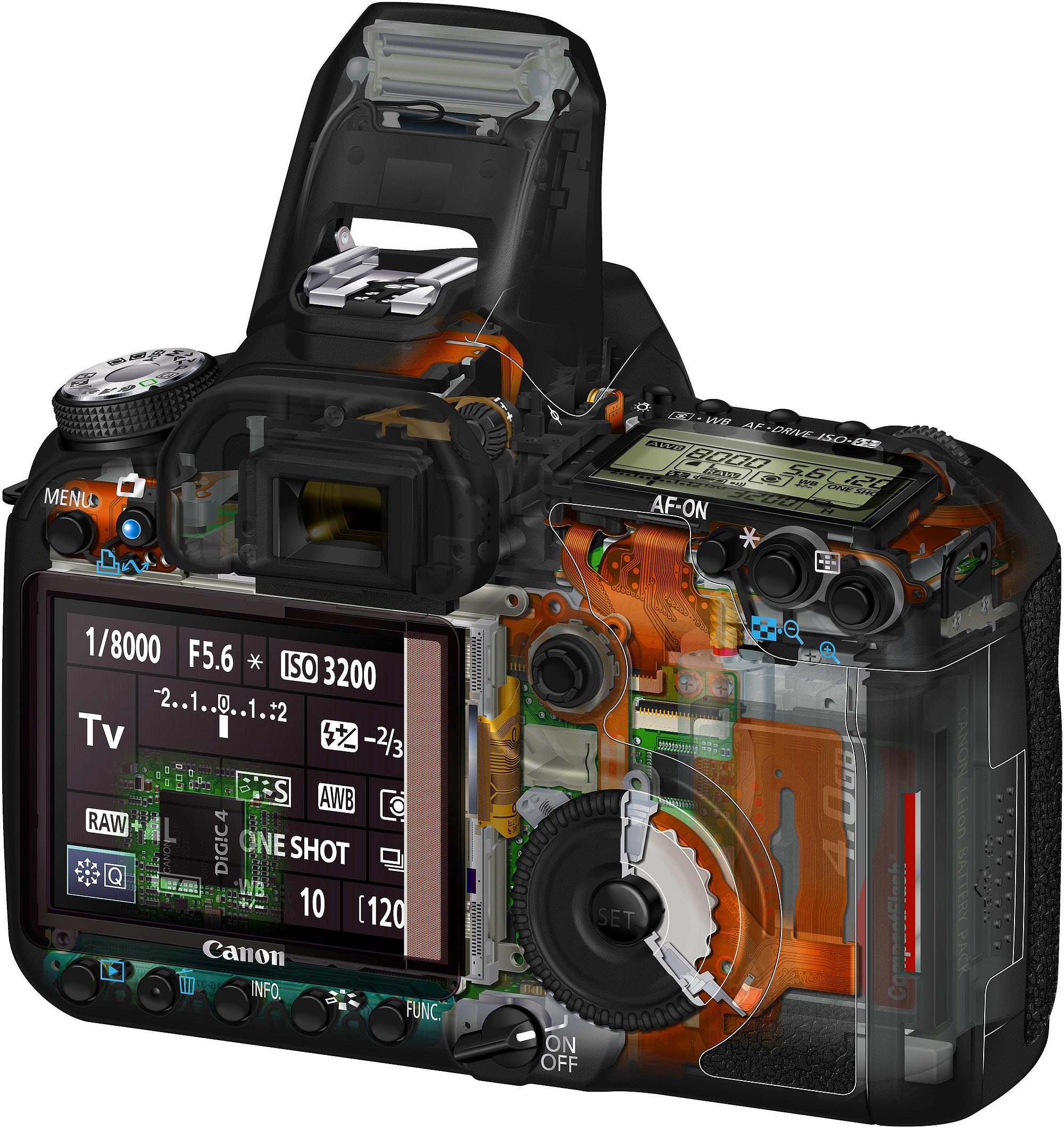 Canon EOS 50D cutaway
