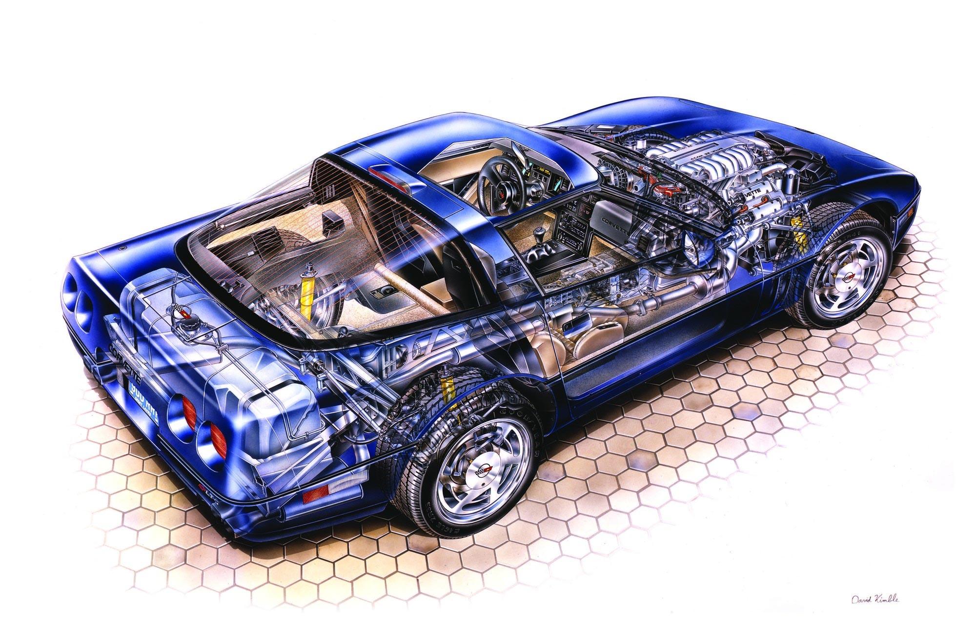 Chevrolet Corvette ZR1 cutaway