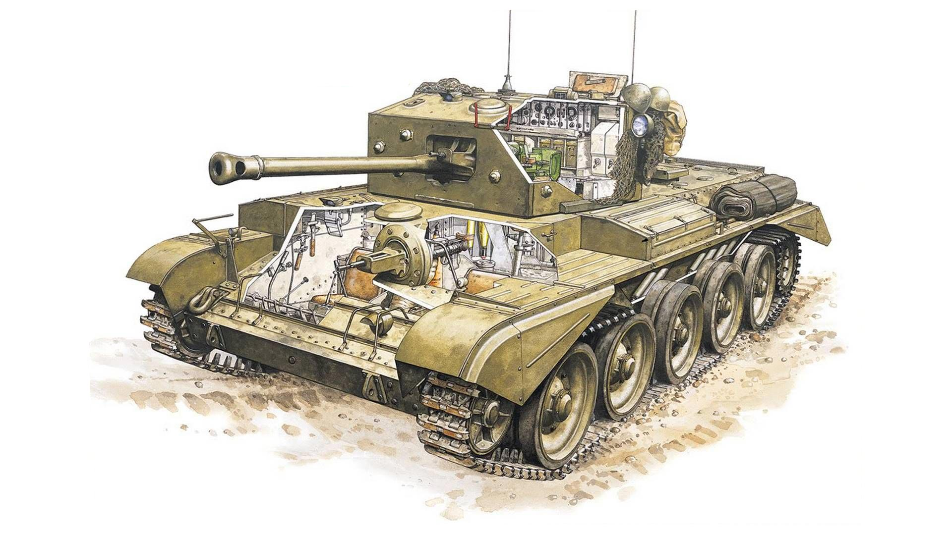 Cromwell tank cutaway