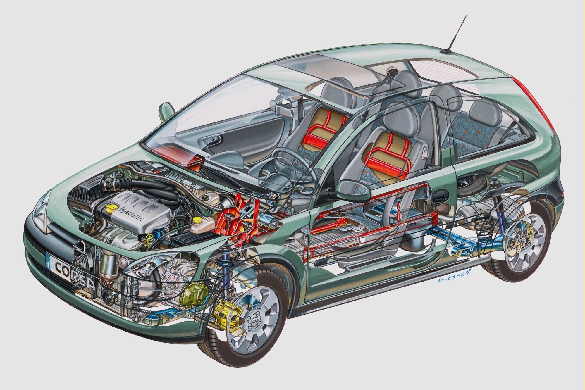 Opel Corsa C cutaway
