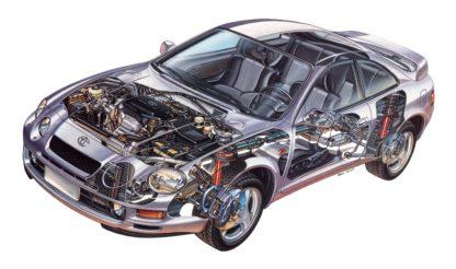 Toyota Celica GT cutaway