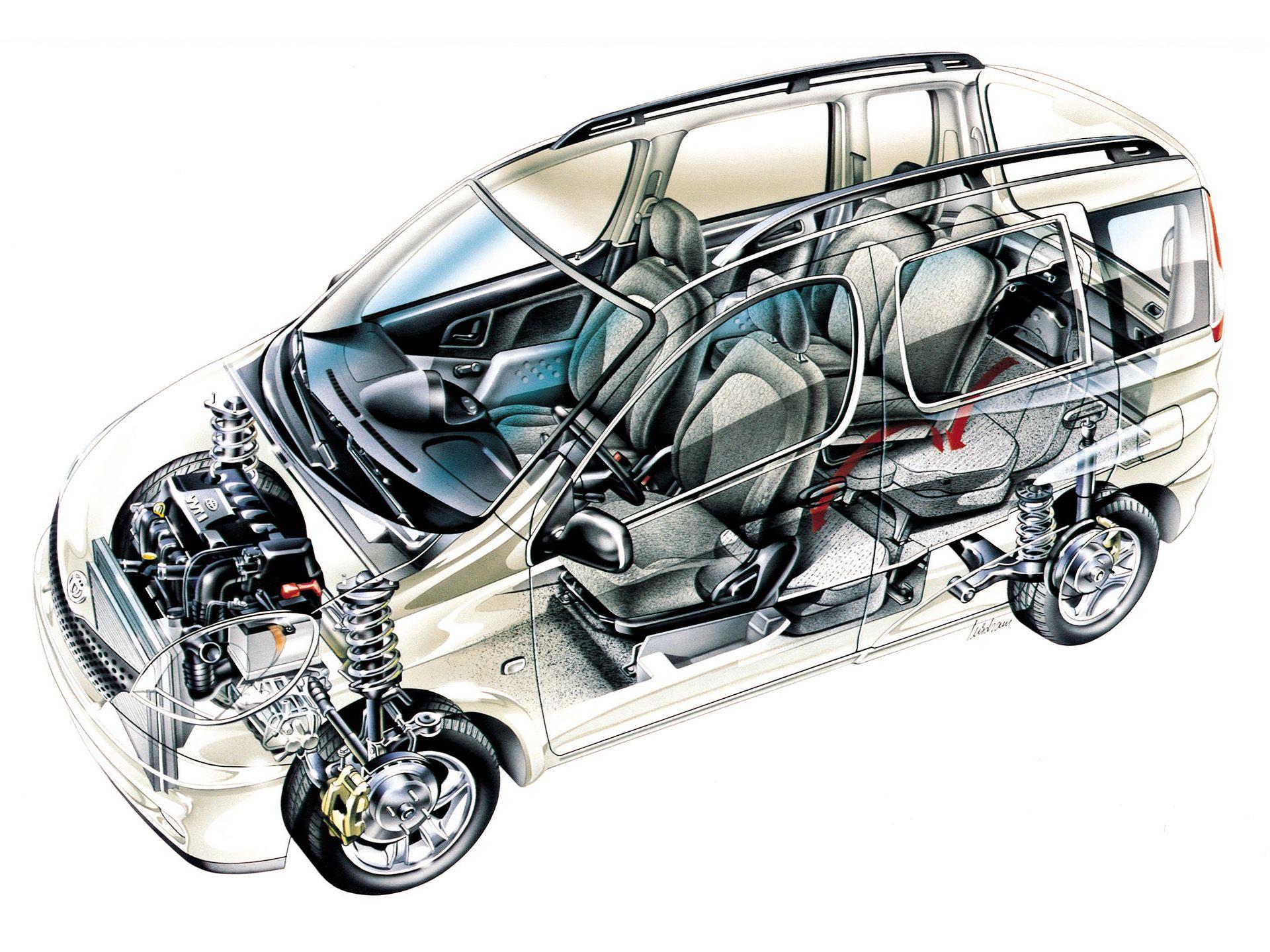 Toyota Yaris Verso cutaway