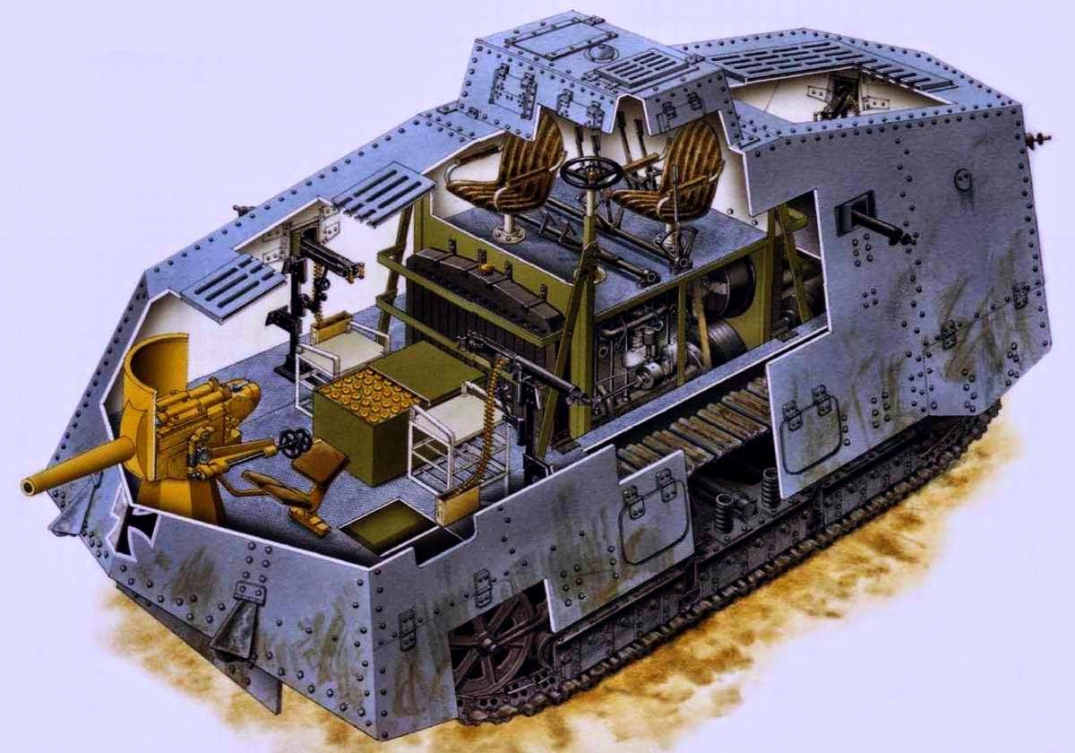 A7V tank cutaway