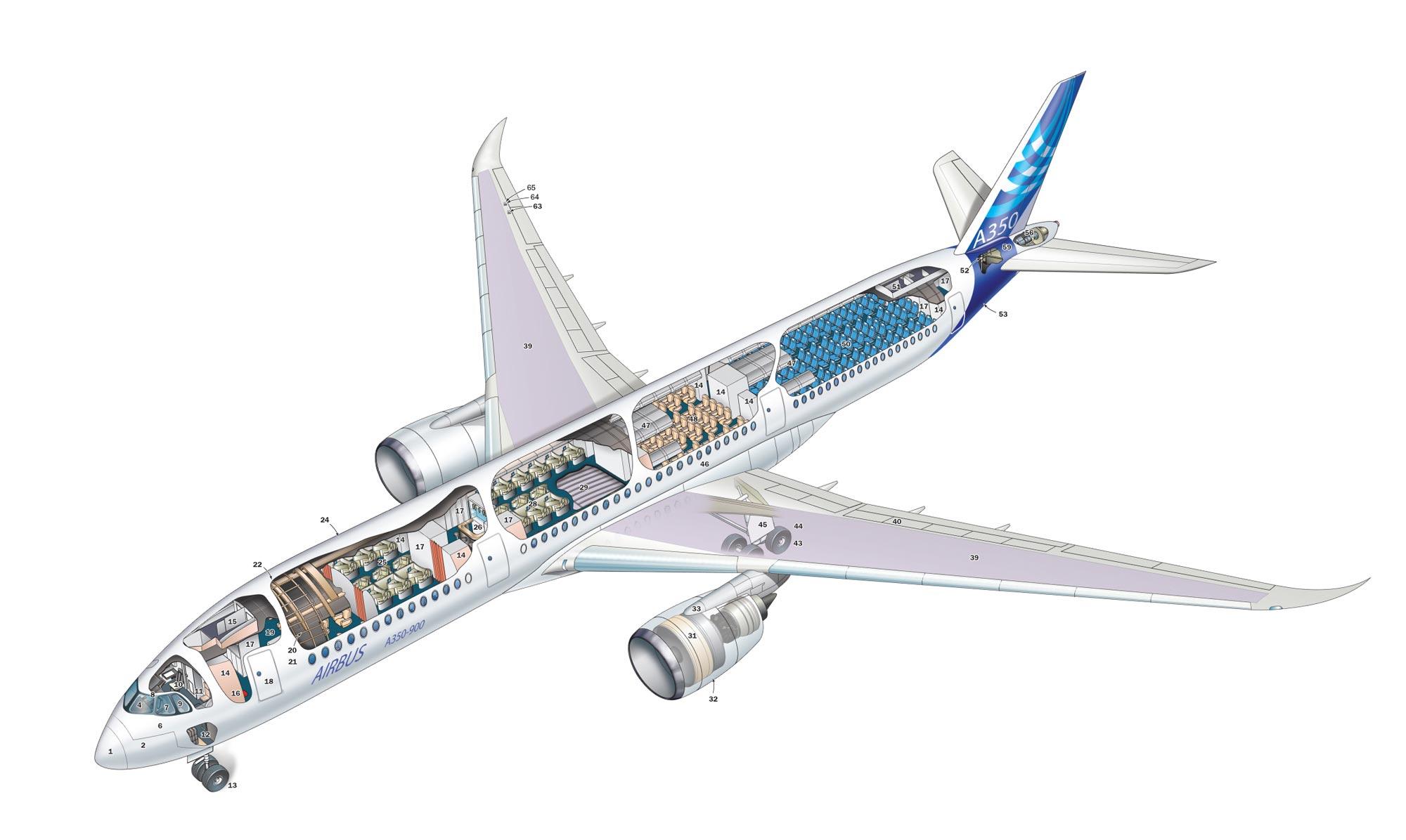 Airbus A350 cutaway