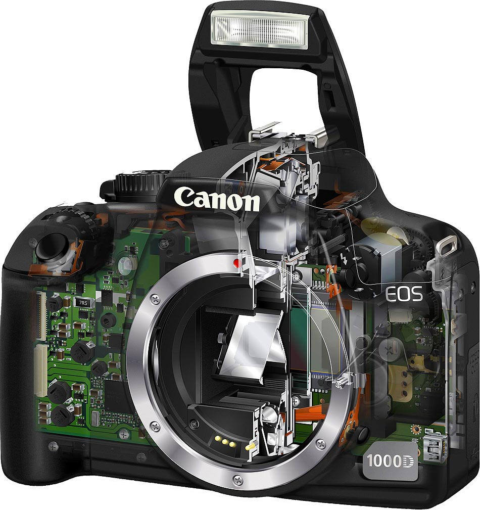 Canon EOS 1000D cutaway