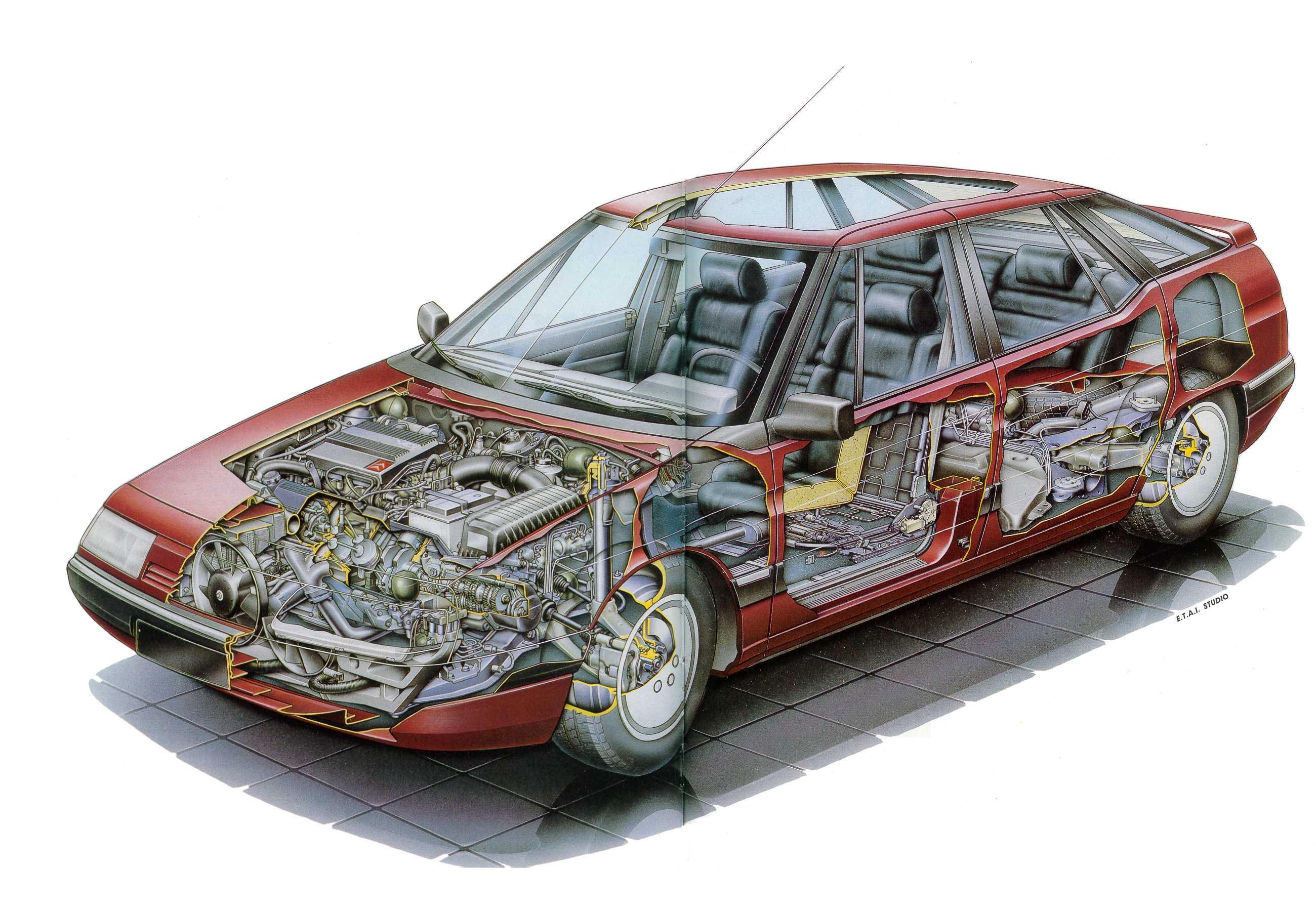 Citroen XM cutaway