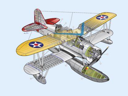 Curtiss SOC Seagull cutaway