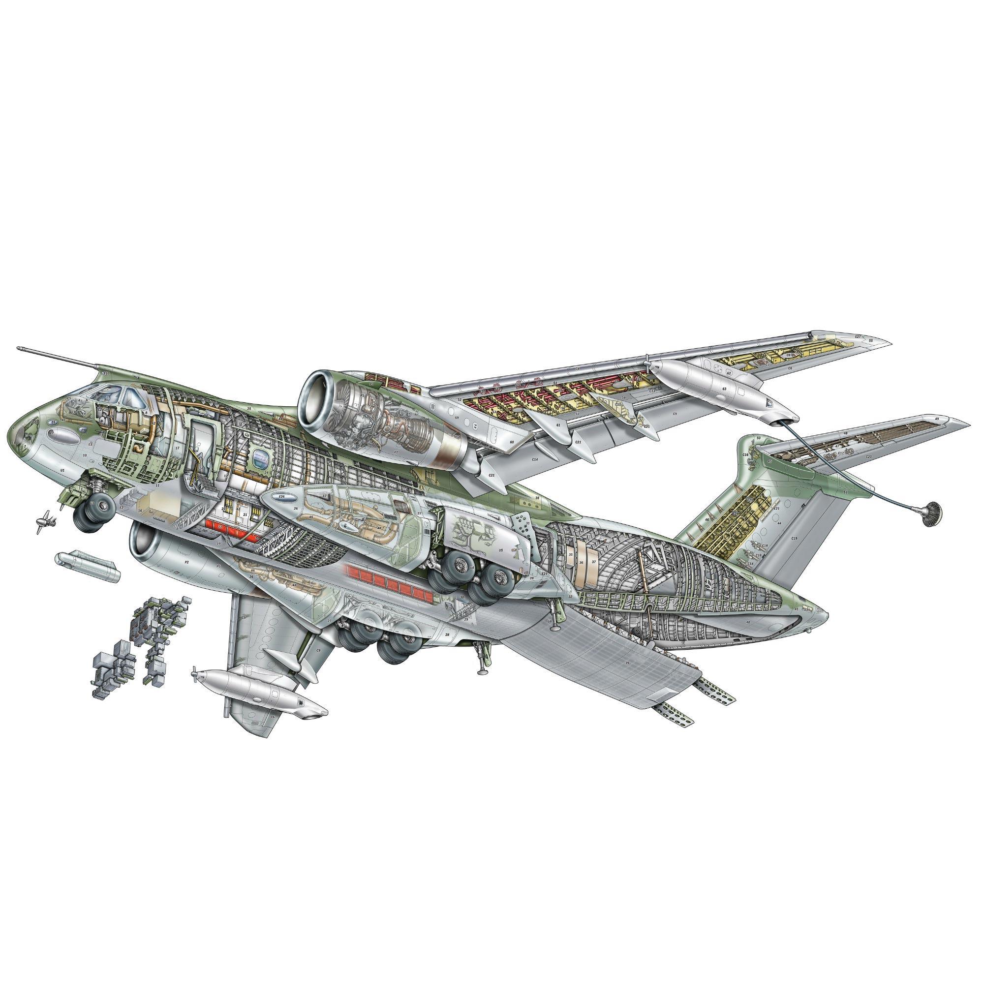 Embraer KC-390 cutaway