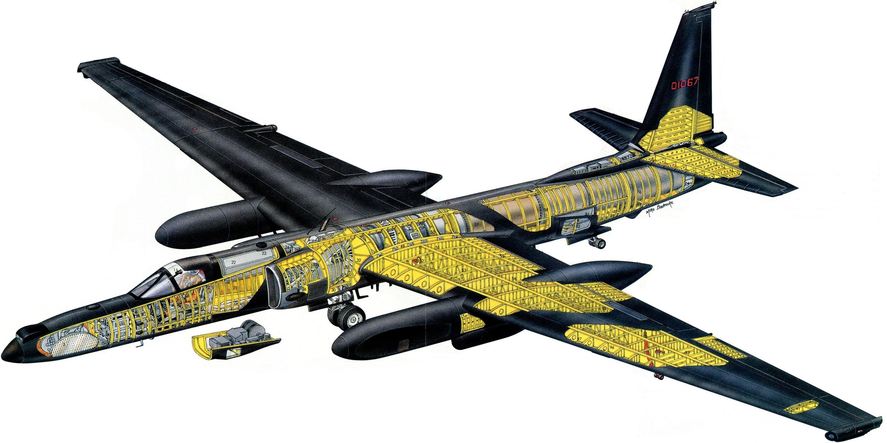 Lockheed U-2 cutaway
