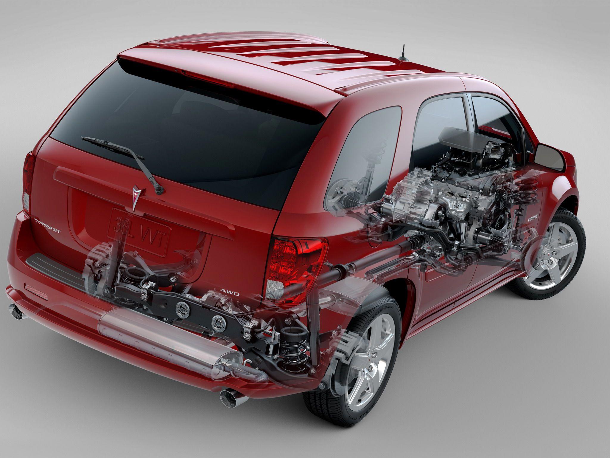 Pontiac Torrent GXP cutaway