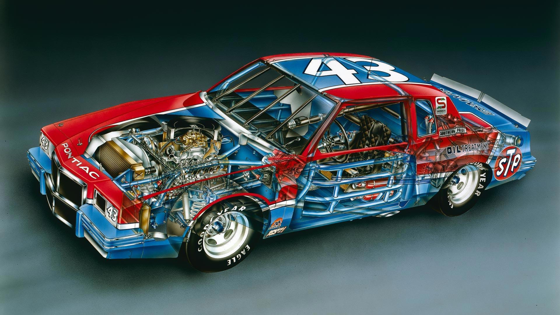 Pontiac Grand Prix cutaway