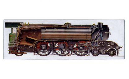 4-6-2 three-cylinder Pacific express locomotive cutaway