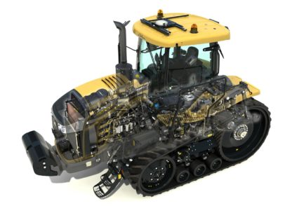 AGCO Challenger tractor cutaway