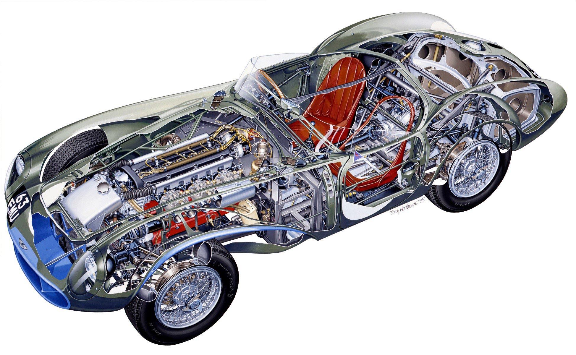 Aston Martin DB3S cutaway