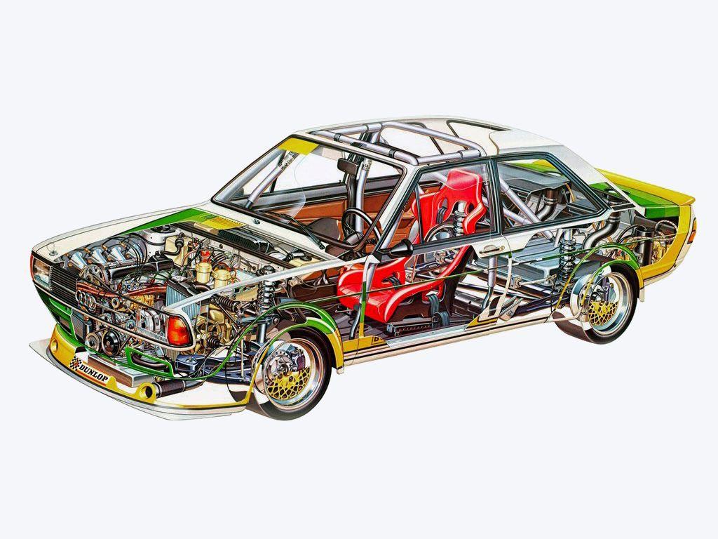 Audi 80 cutaway