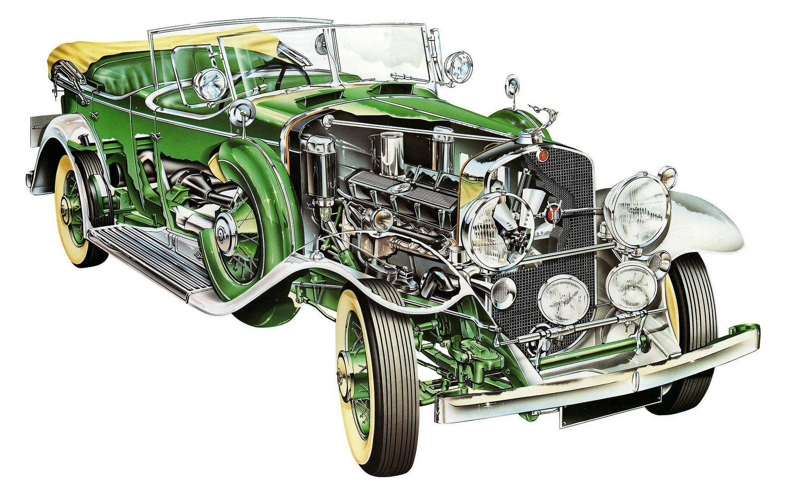 Cadillac V-16 cutaway