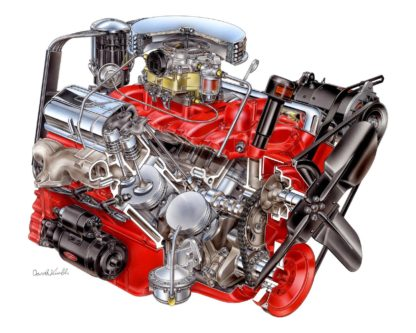 Chevrolet Corvette V8 engine