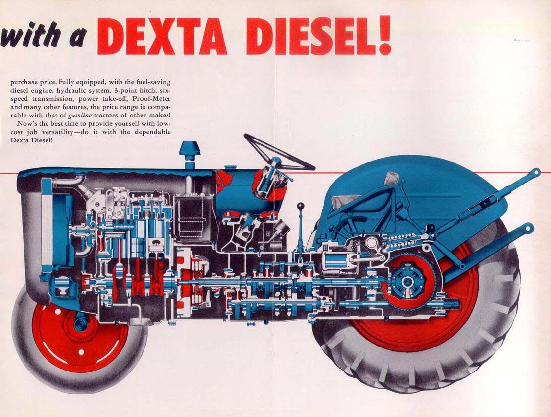 Dexta diesel tractor cutaway