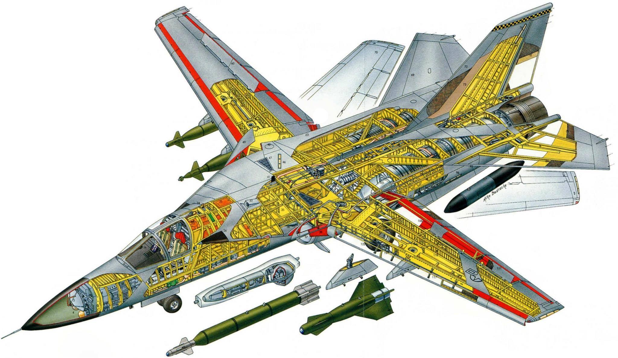 F-111 Aardvark cutaway