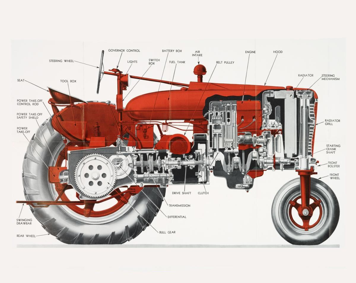 Farmall tractor cutaway