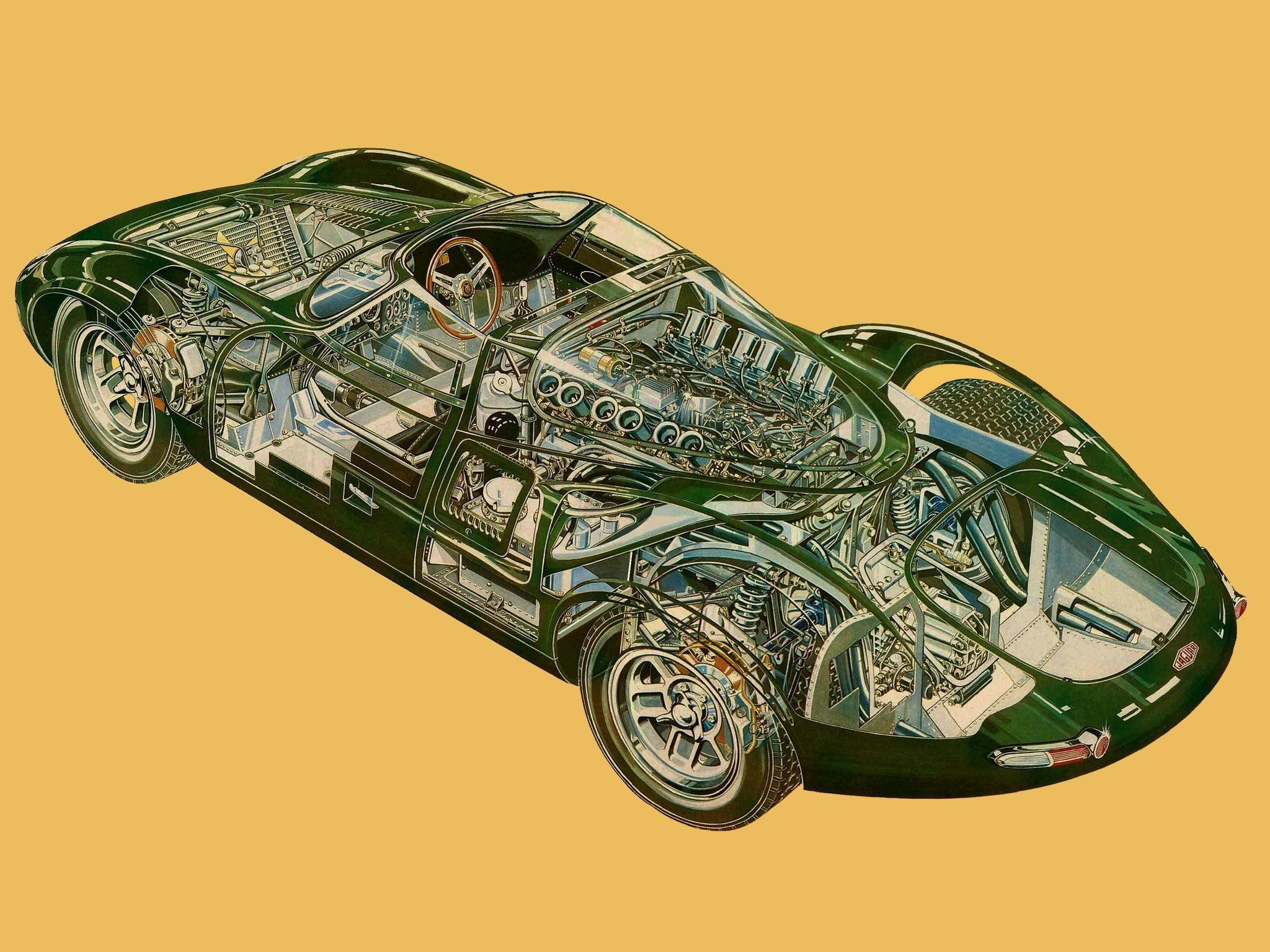 Jaguar XJ13 cutaway