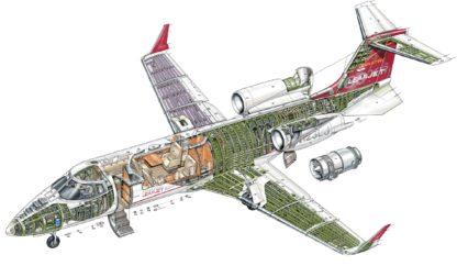 Learjet 60 cutaway