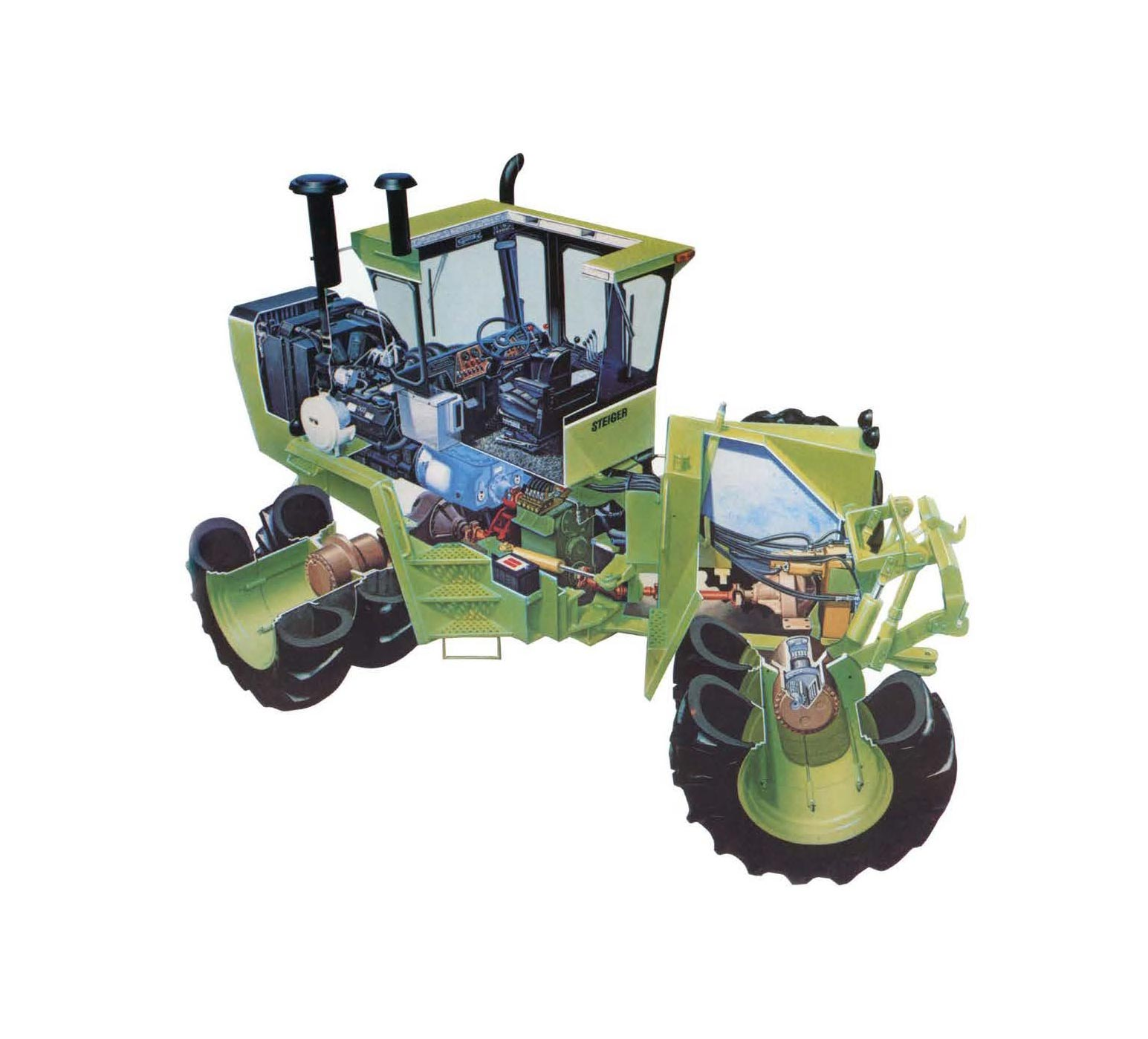 Steiger PT tractor cutaway