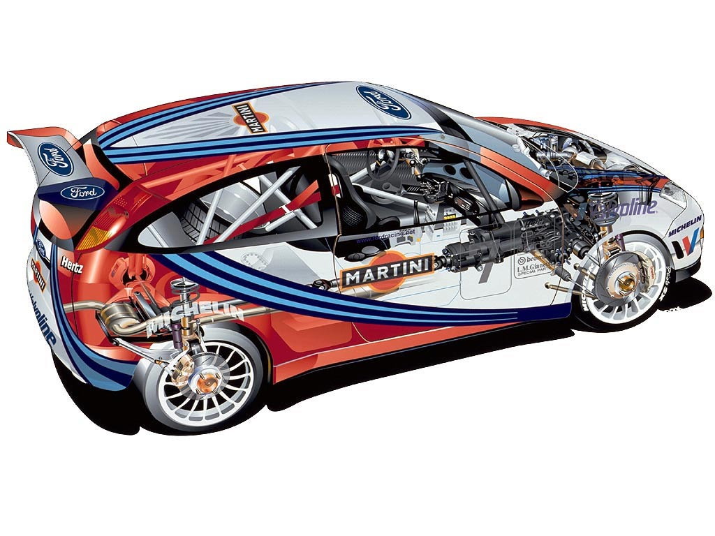 Ford Focus WRC cutaway drawing
