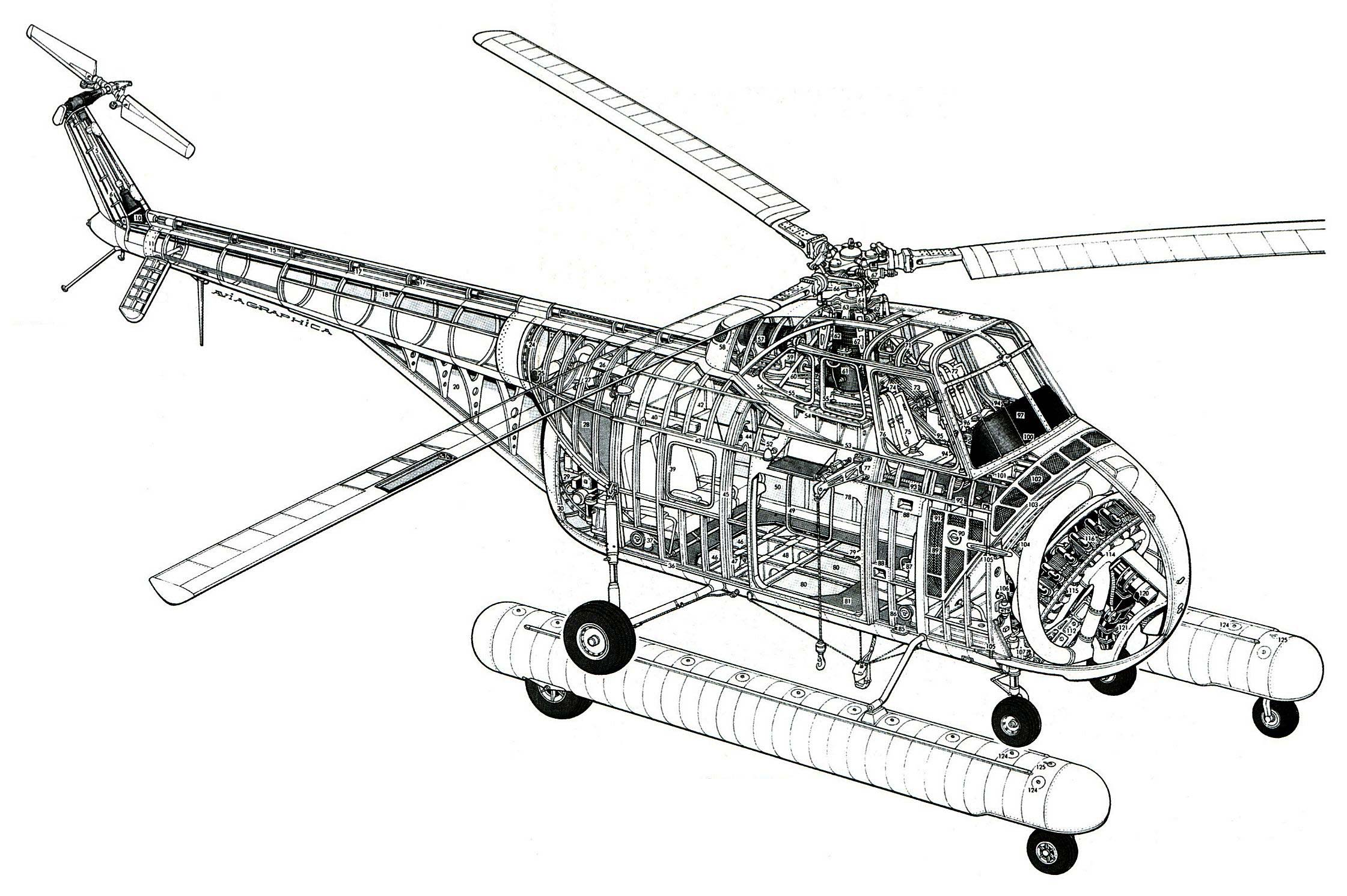 Sikorsky H-19 Chickasaw cutaway