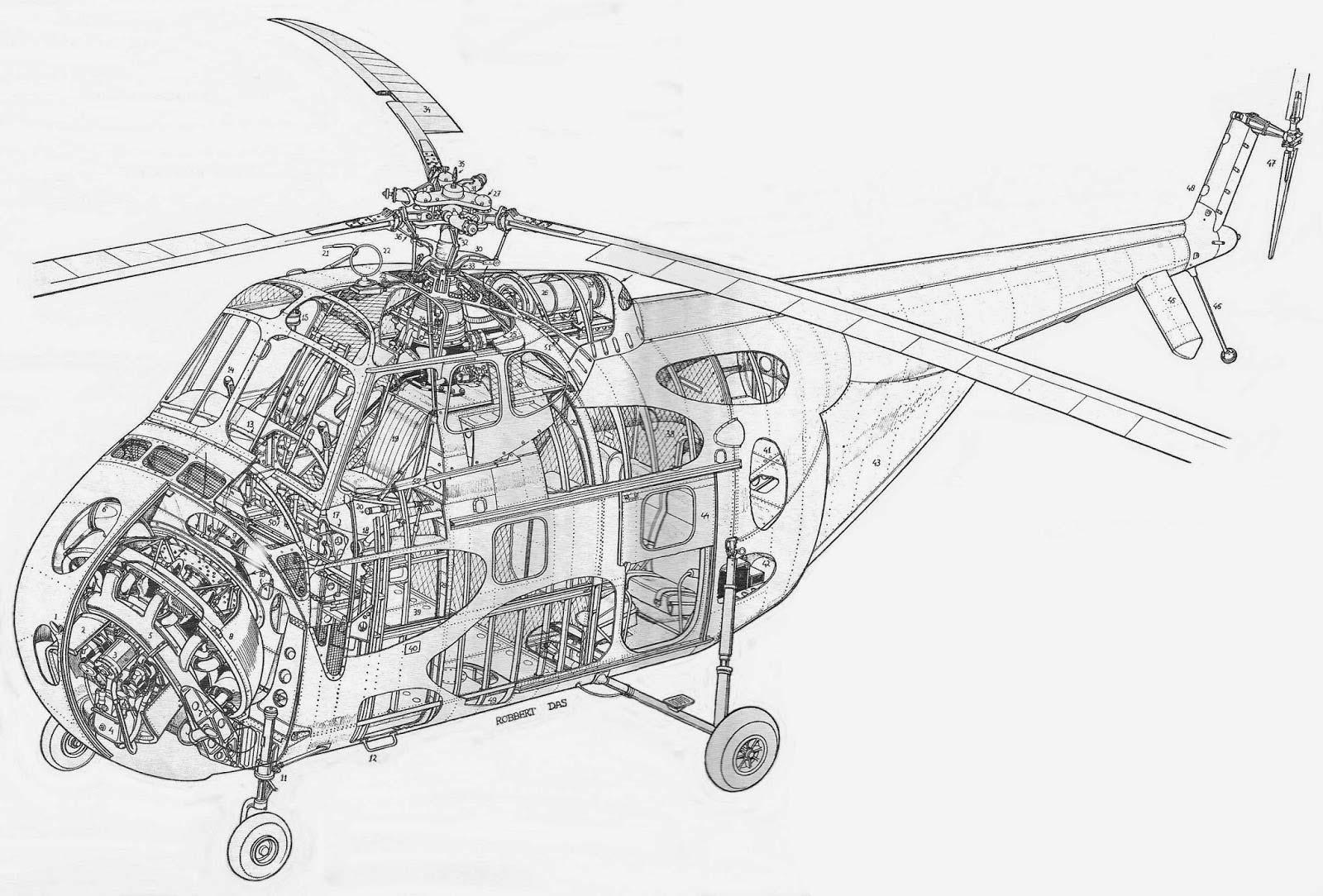 Sikorsky s-55 cutaway