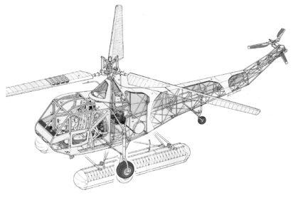 Sikorsky R-4 cutaway