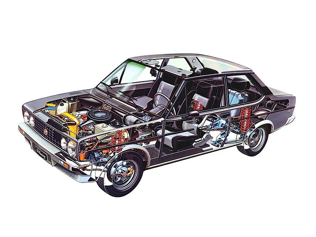 Fiat 131 cutaway