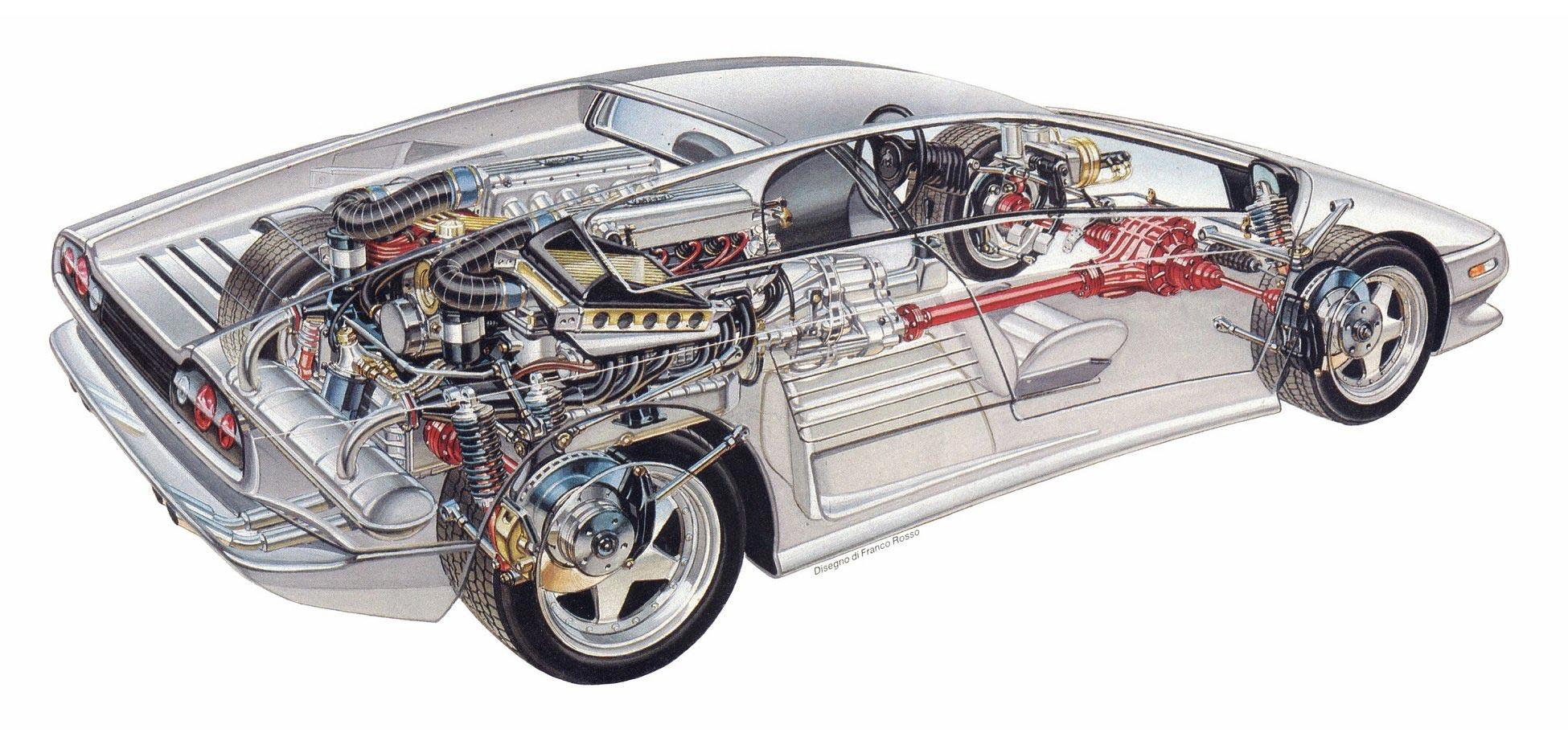 Lamborghini Diablo cutaway