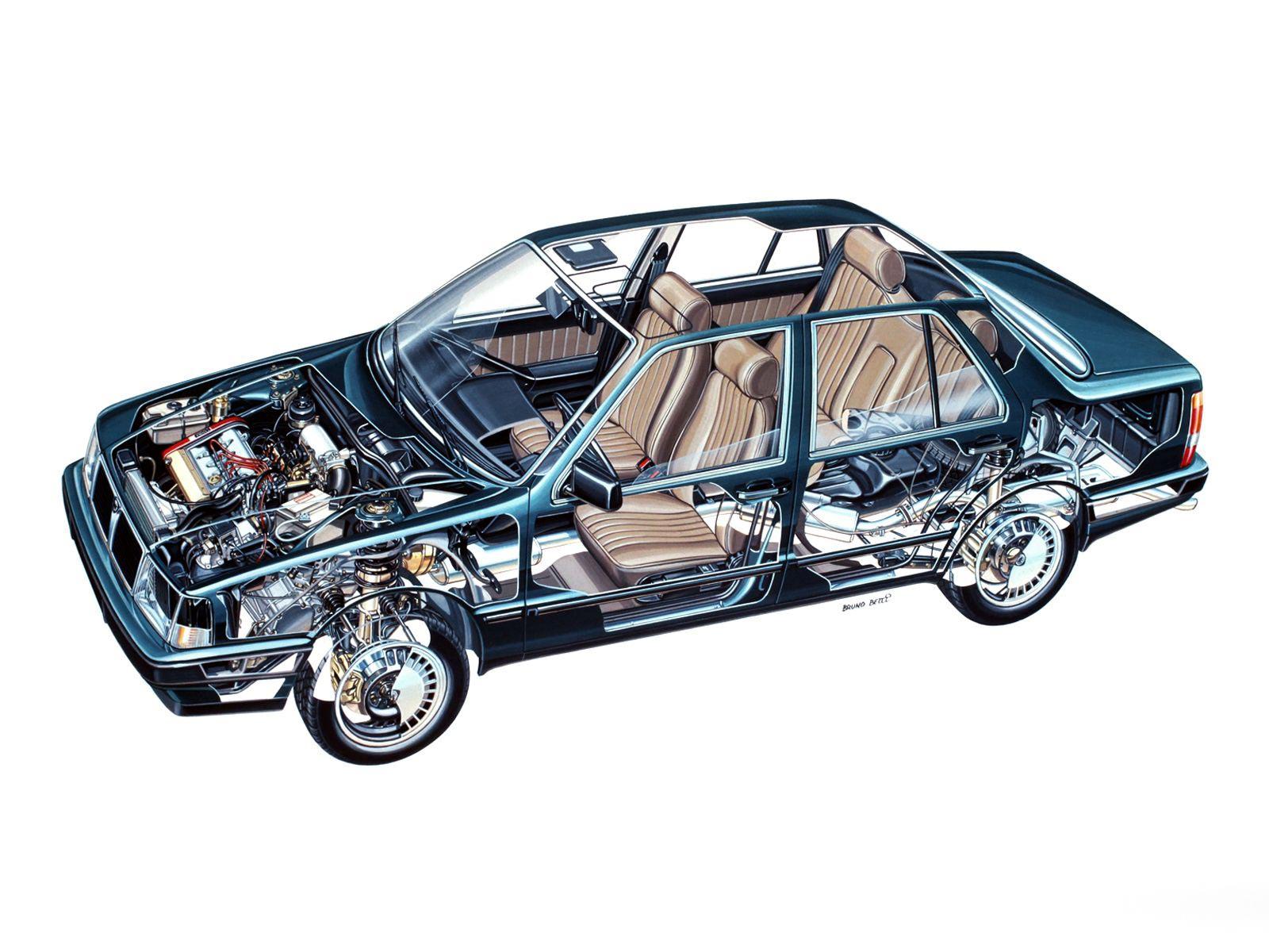 Lancia Thema cutaway
