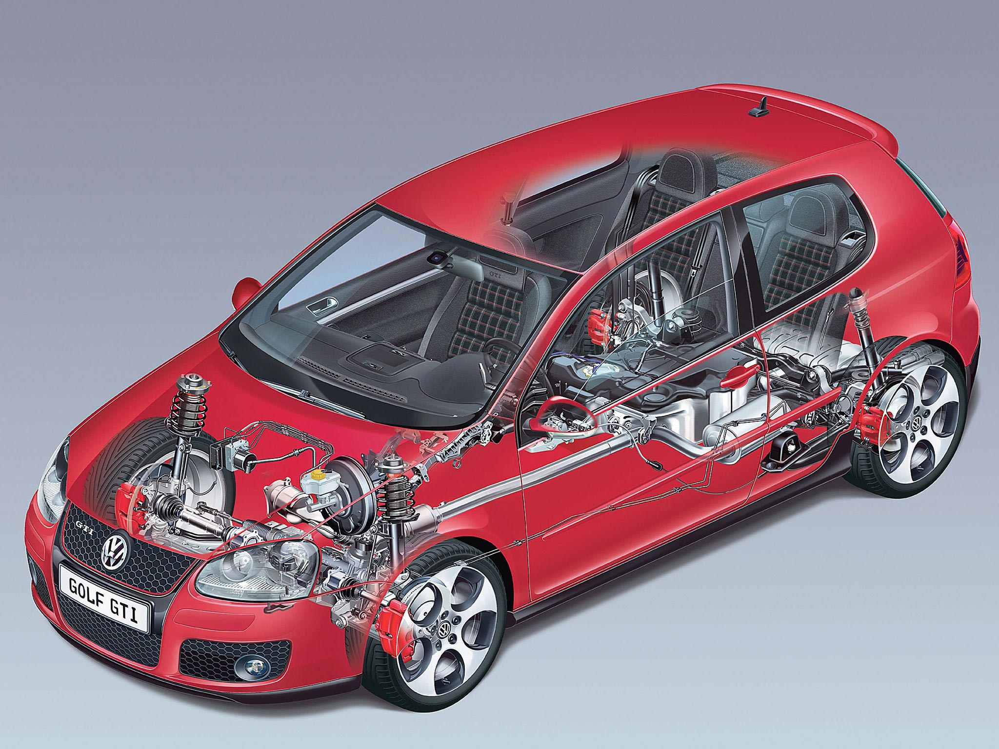 Volkswagen Golf GTI cutaway