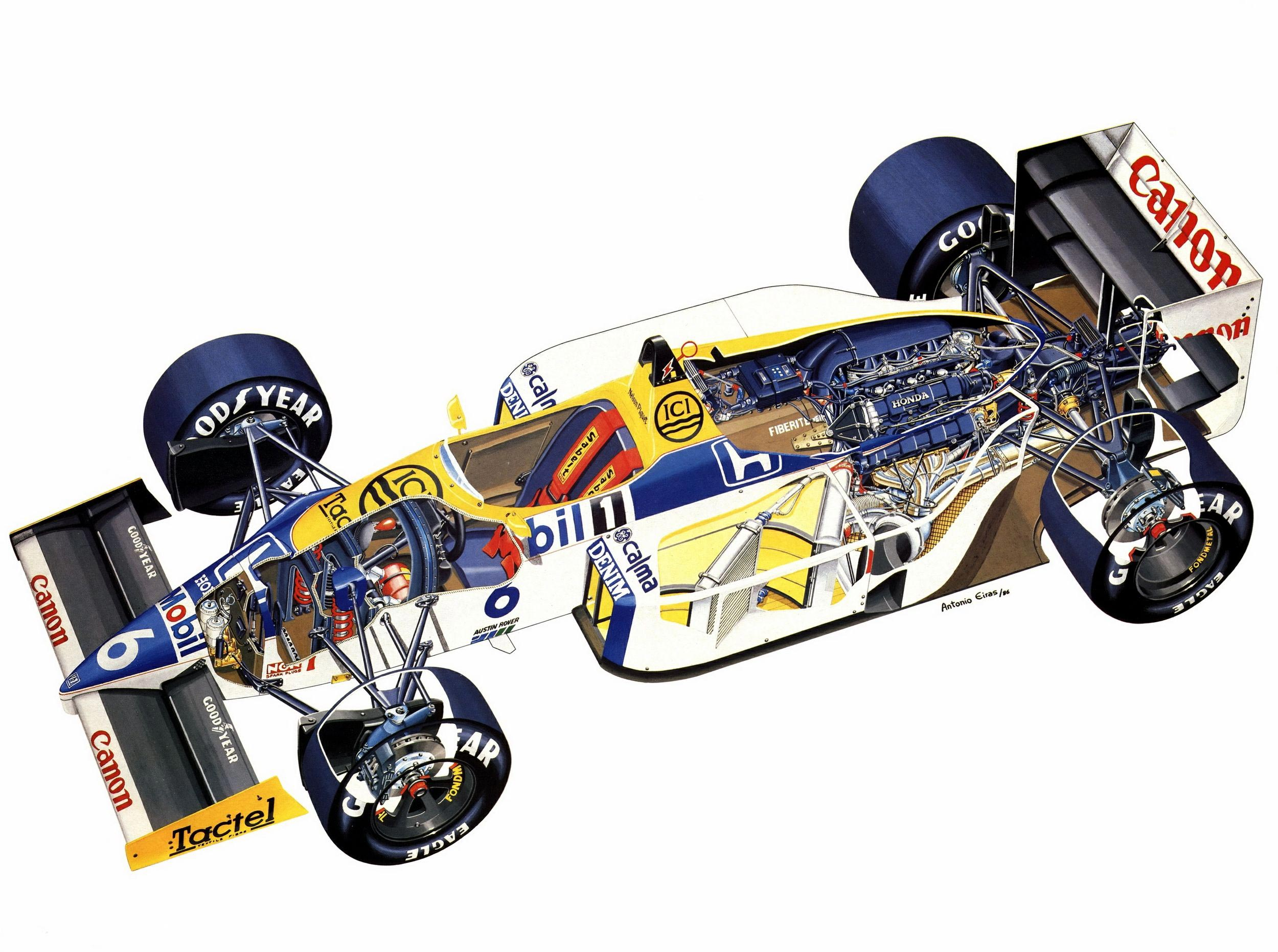 Williams FW11 cutaway