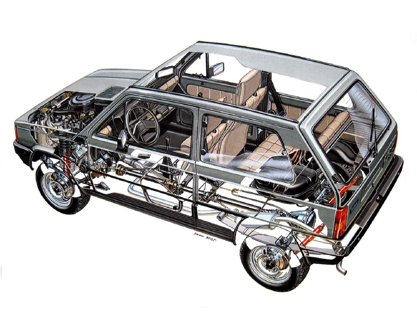 Fiat Panda cutaway