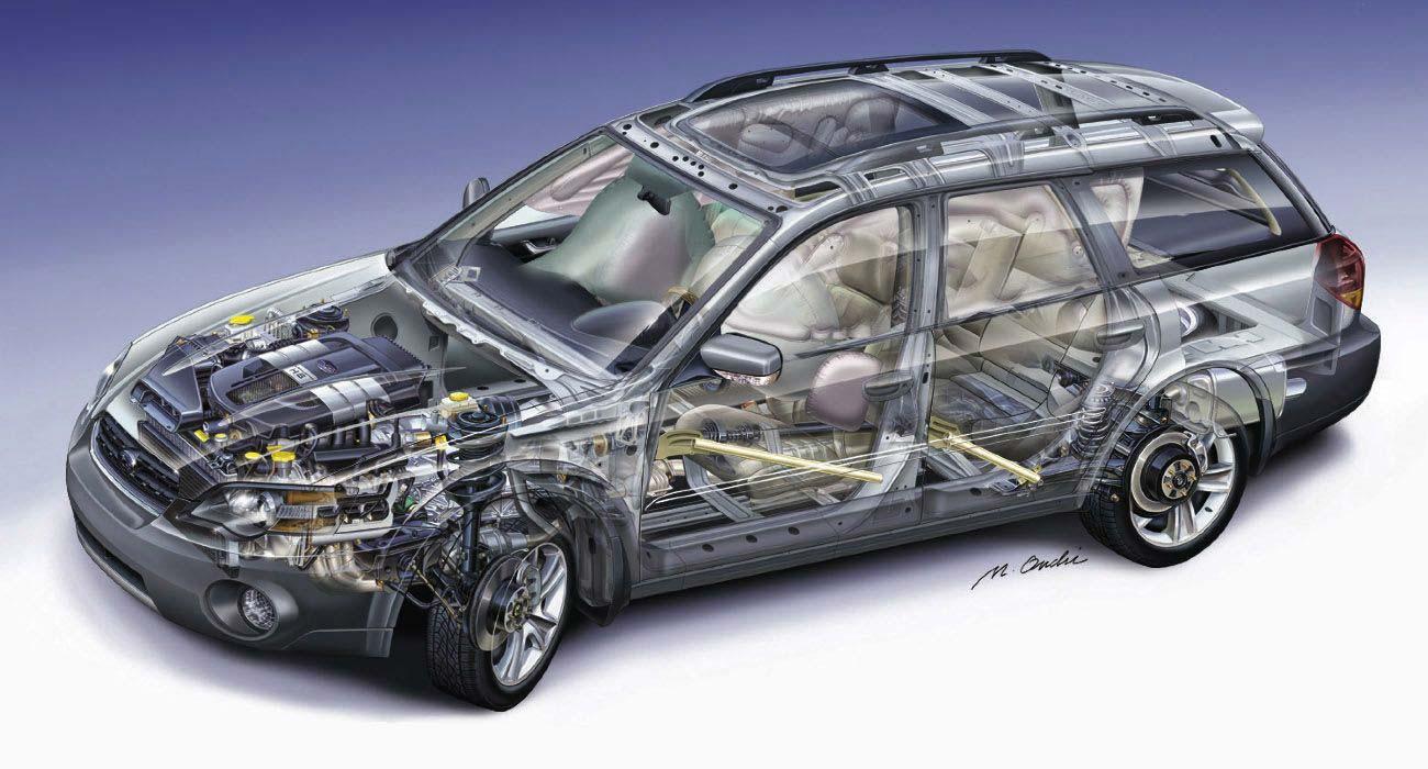 Subaru Outback cutaway drawing
