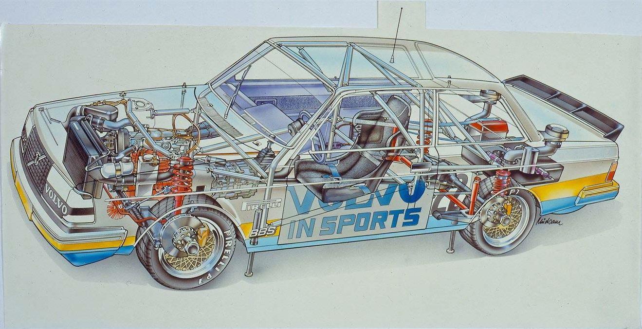 Volvo 240 cutaway drawing