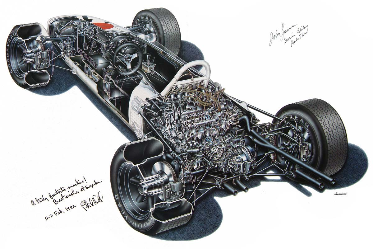 Honda RA272 cutaway drawing