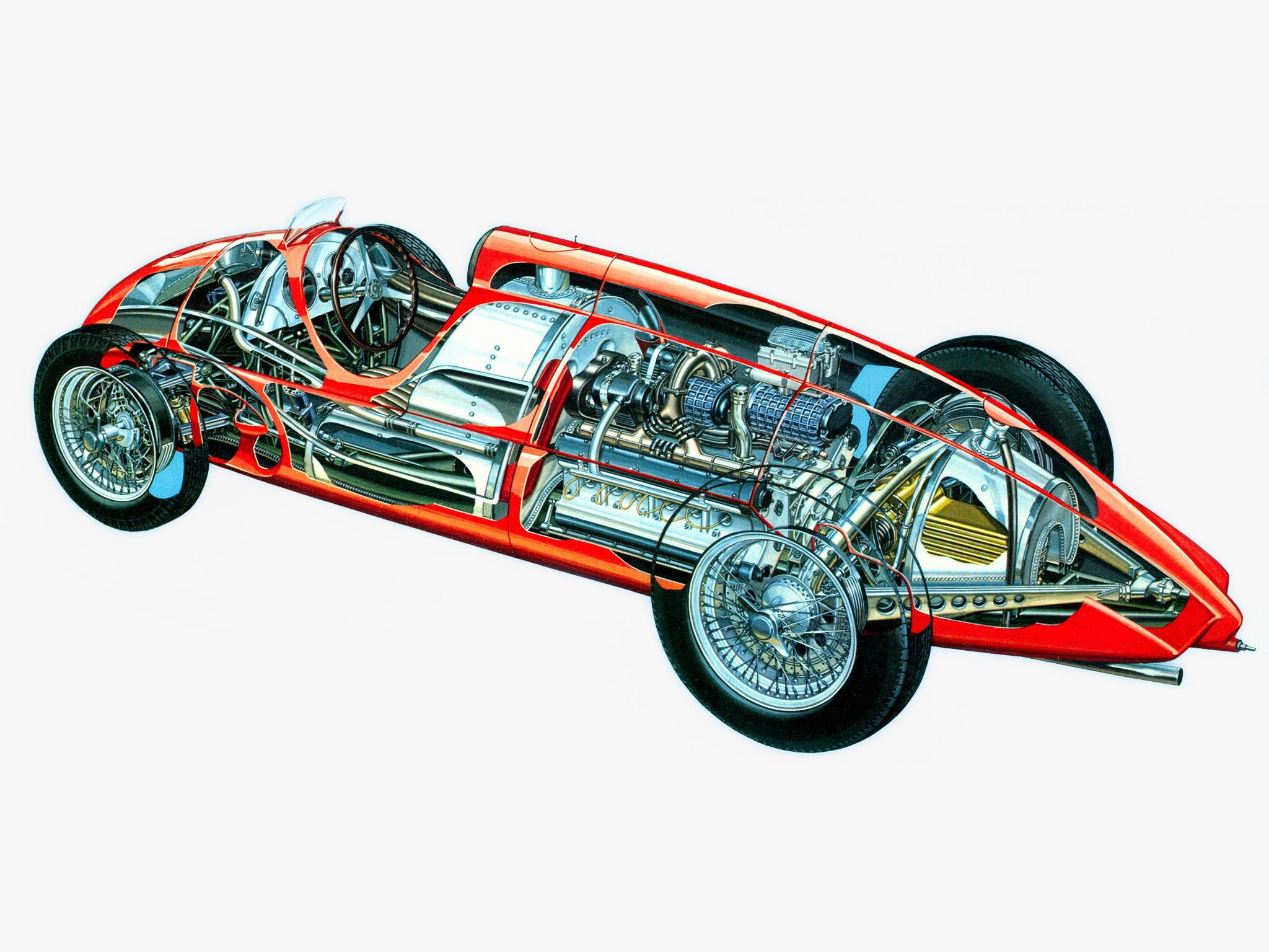 Alfa Romeo Tipo 512 cutaway drawing