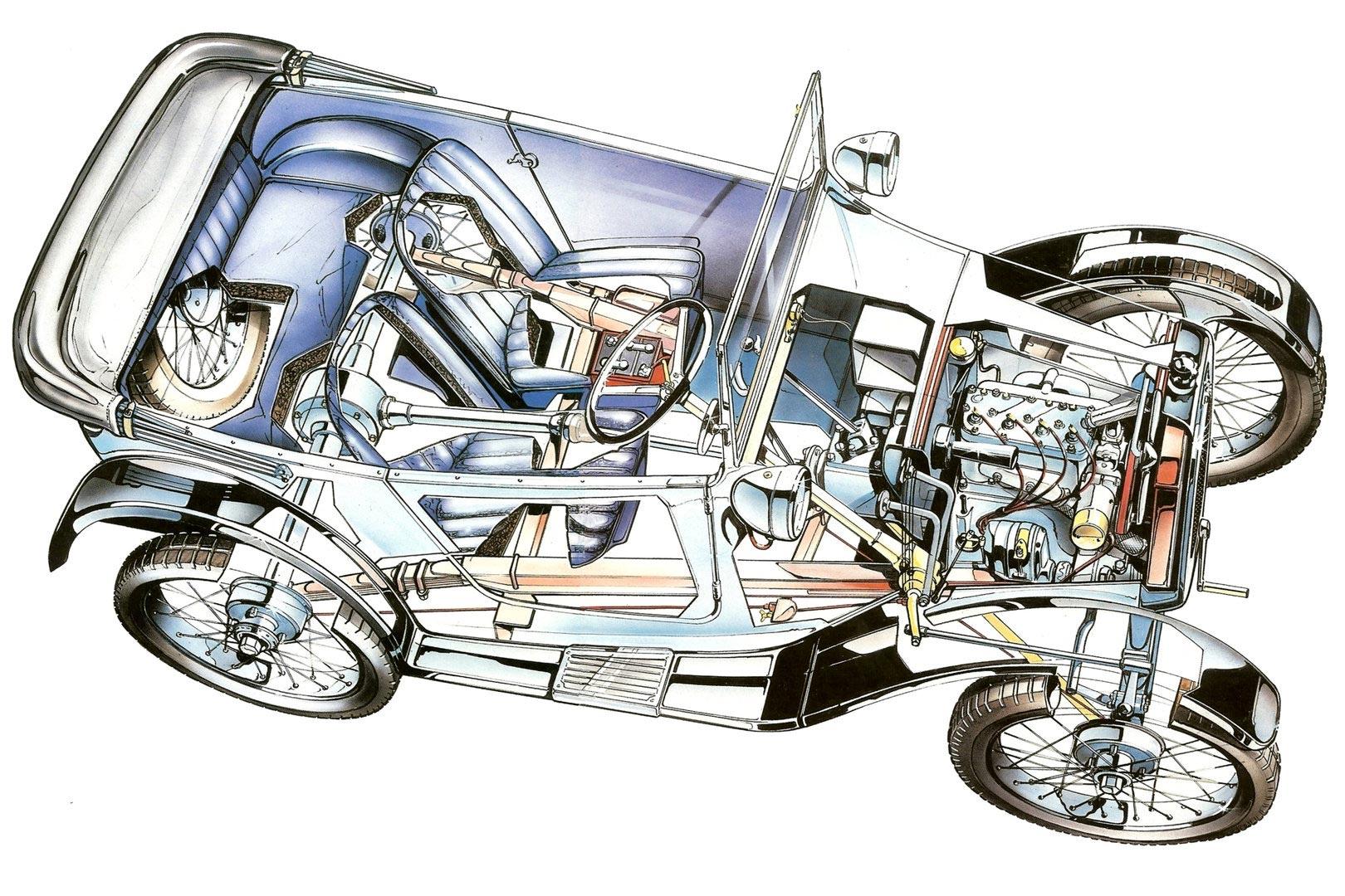 Austin 7 cutaway drawing