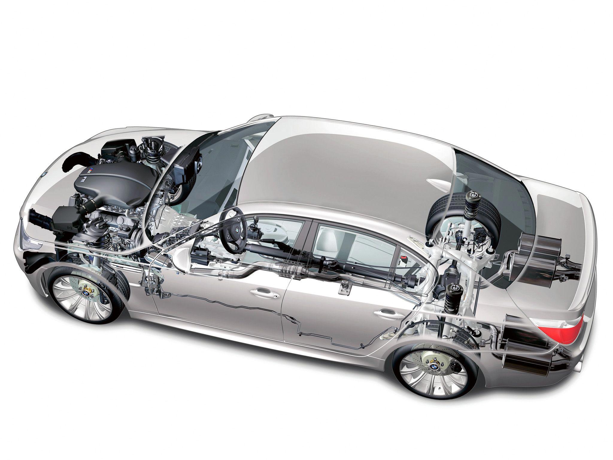 BMW m5 e60 cutaway drawing