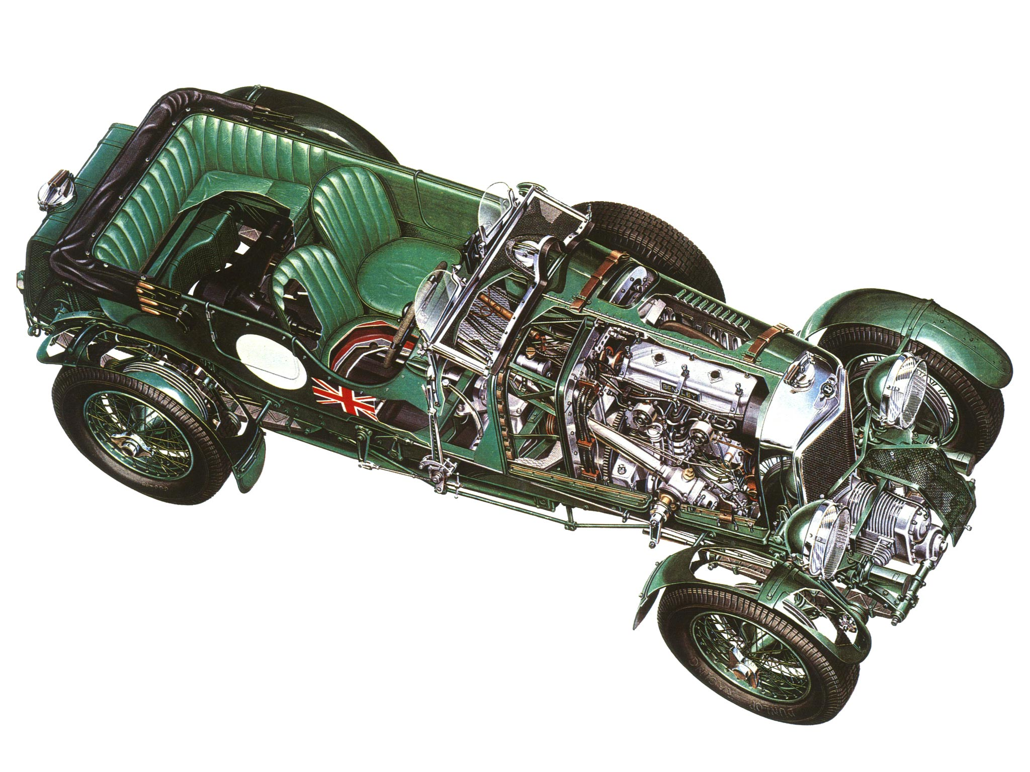 Bentley 4½ Litre cutaway drawing