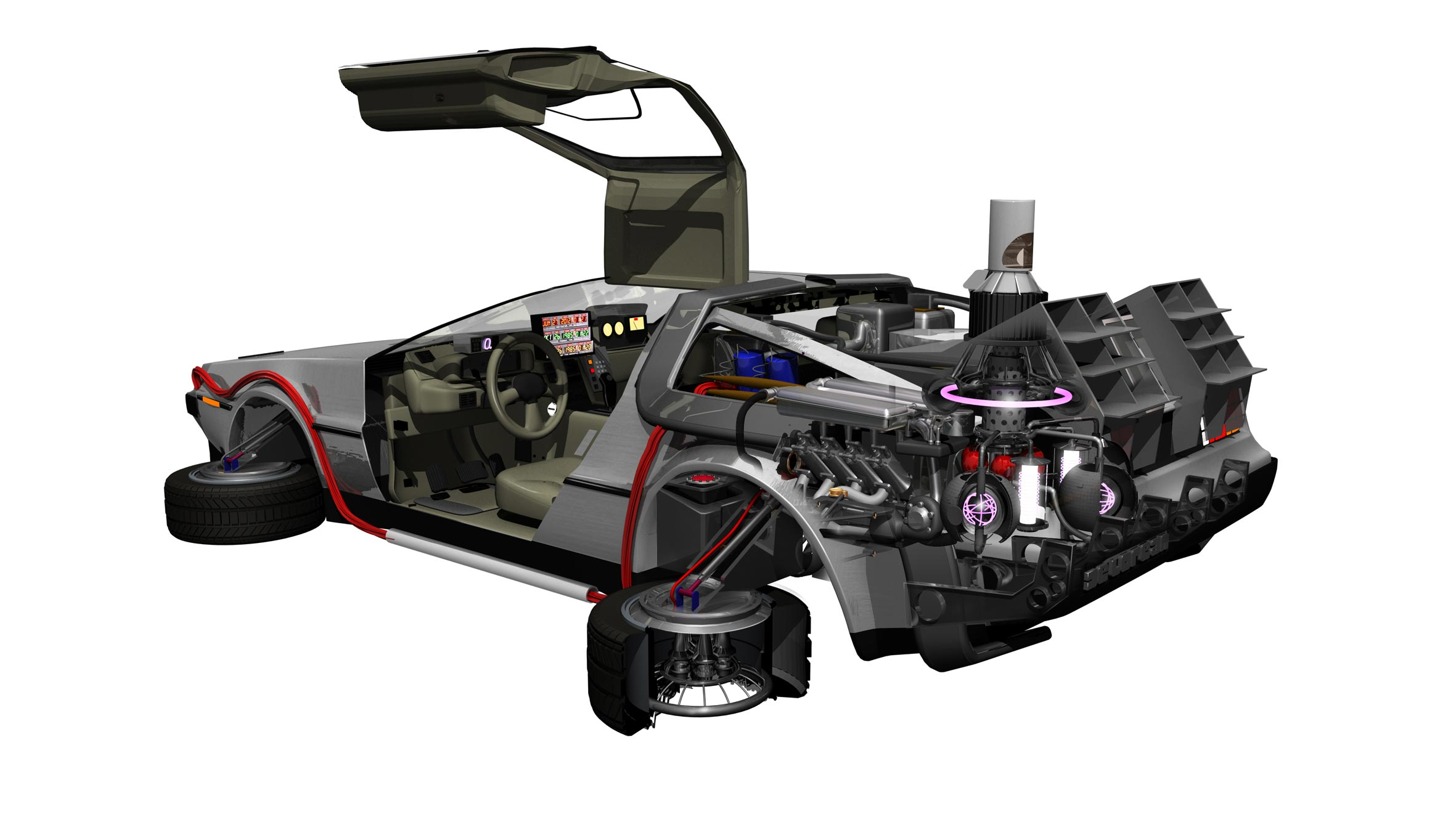 DeLorean DMC-12 cutaway drawing