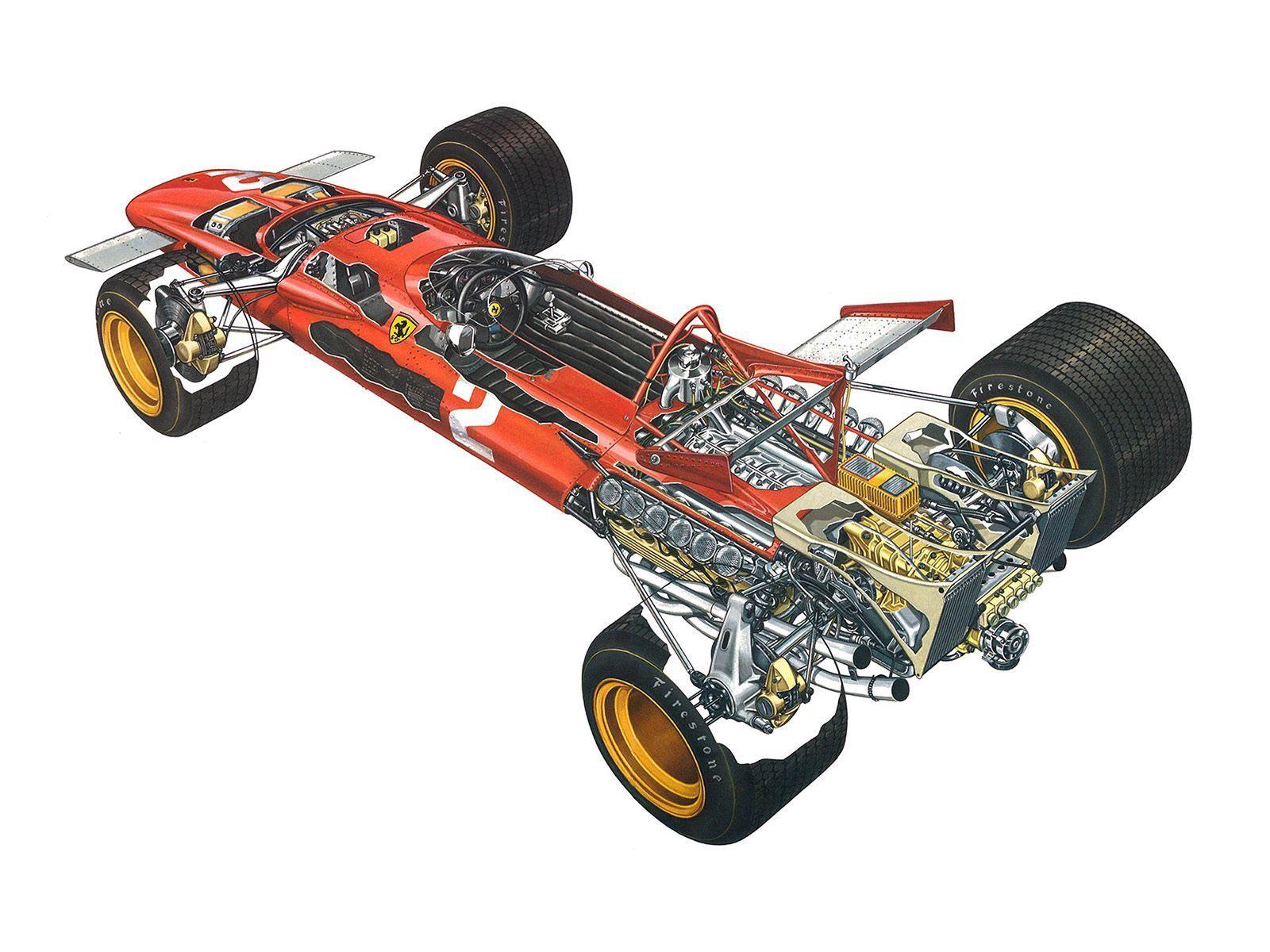 Ferrari 312B cutaway drawing