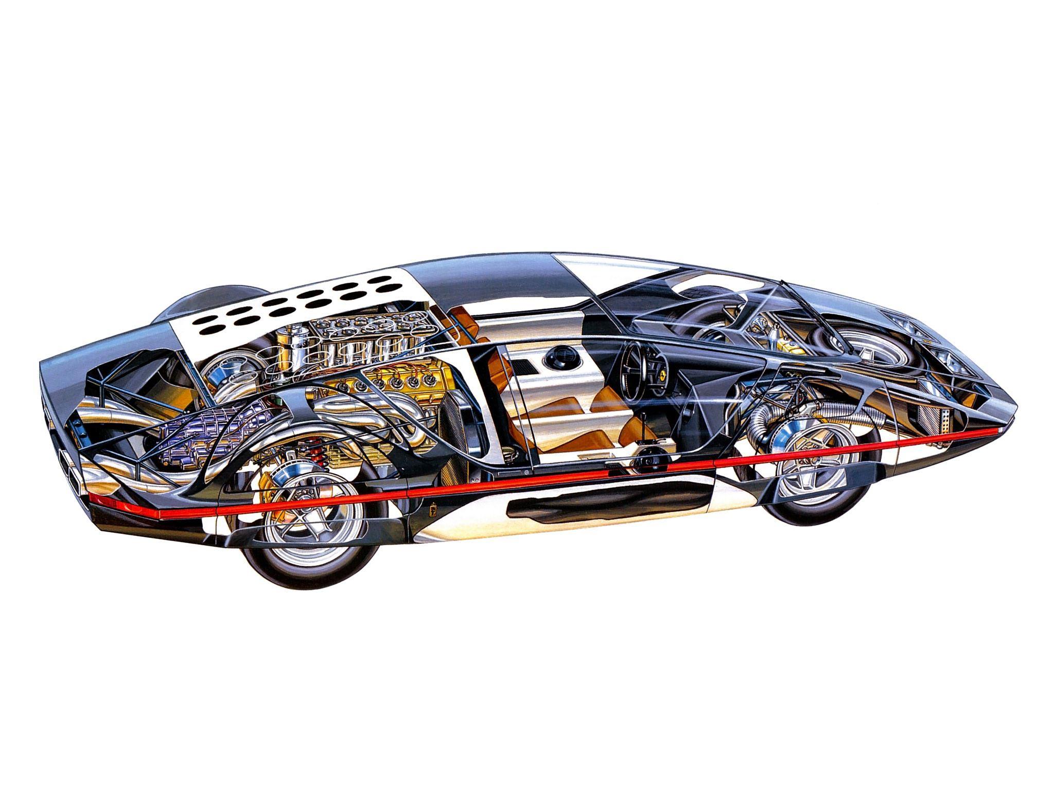 Ferrari Modulo cutaway drawing
