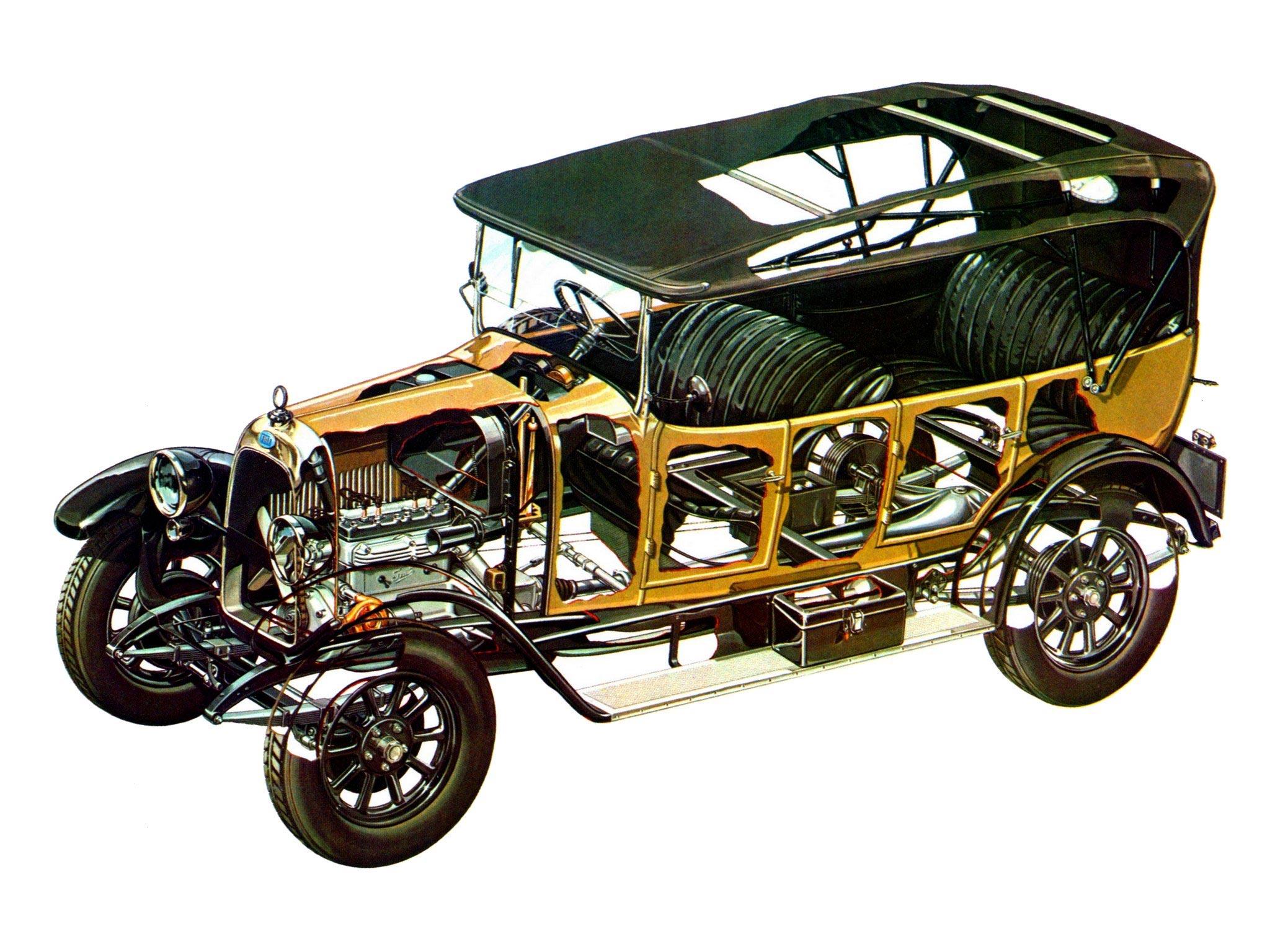 Fiat 501 cutaway drawing